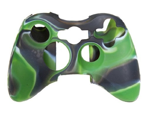 Best Brand Camouflage Silicone Case For Xbox 360 Wireless Controller (Camouflage Green)