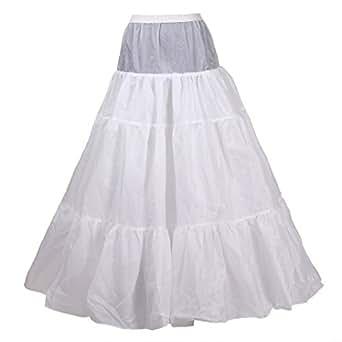 HIMRY Design Jupon de Mariée en Crinoline, 3 Couches, Taille Unique, Adéquat pour Taille 34, Taille 36, Taille 38. Blank, KXB-0031 White