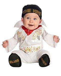 Elvis Onesie Costume, White, 6-12 Months