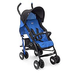 Chicco Echo Basic Stroller with Bumper Bar (Deep Blue)