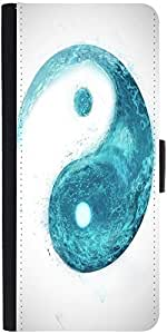 Snoogg Yin Yang Wave Designer Protective Phone Flip Case Cover For Coolpad Note 3