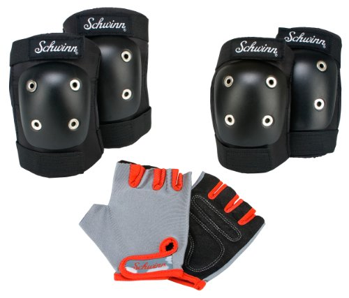 Schwinn Child's Pad Set with Knee Elbow and Gloves (Kids Knee Pads And Elbow Pads compare prices)