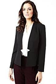 Open Front Notched Jacket