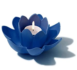7 5 Hydrotools Swimming Pool Or Spa Blue Floating Flower Candle Light Floating