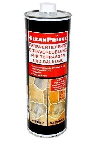 1 liter cleanprince farbvertiefende steinveredelung f r terrassen und balkone 1000 ml. Black Bedroom Furniture Sets. Home Design Ideas
