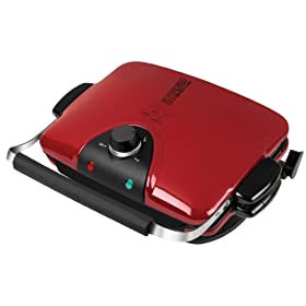 George Foreman GRP94WR The Next Grilleration G4 Nonstick Indoor Grill, Red