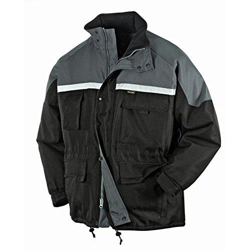 Texxor 4130 - Winterjacke malmo, giacca lavoro foderato con la tempesta cappuccio m, nero