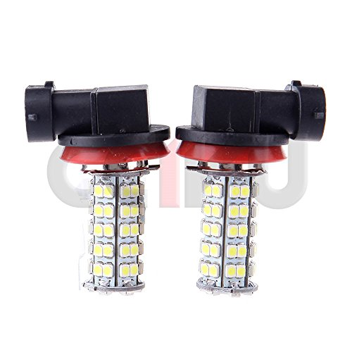 CCIYU 4X Xenon White H8 H11 68-SMD Fog/Driving Car Head light DRL LED Bulbs Lamp 12 (Super Bright White) (Oem 2010 Honda Crv Antifog Lights compare prices)