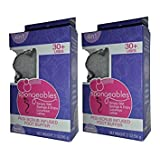 Pack 2 Spongeables 30+ Uses Pedi Scrub Infused Foot Buffer w/ Lavender Chamomile Scent 2 oz/56 g