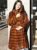 NEW LANDI WILD TYPE MINK FUR COAT sz10 #10861