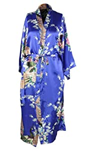 Kimono Robe Pajama Nightgown Sleepwear - Blue by AMC