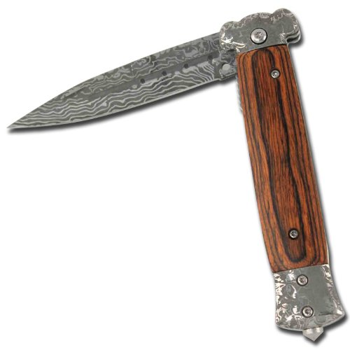 Striker Damascus Glass Breaker Tactical Pocket Knife