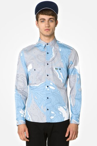L!VE Long Sleeve Cotton Twill Camo Landscape Woven Shirt