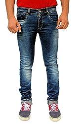 Evanzo Men's Skinny Jeans (FZ3CA560D81_Blue_30W x 32L)