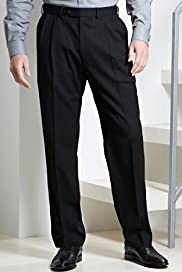 Active Waistband Supercrease® Washable Wool Blend Twin Pleat Trousers