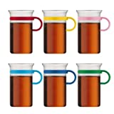 Bodum Bistro Nouveau Coffee Glass - Colours may vary