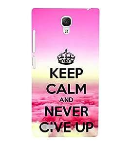 Motivational Quote 3D Hard Polycarbonate Designer Back Case Cover for Xiaomi Redmi Note :: Xiaomi Redmi Note 4G