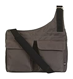 Missionary Bag with Waist Strap (Charcoal/Blue)