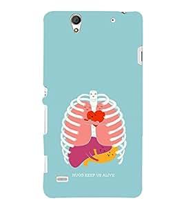 EPICCASE hugs keeps us alive Mobile Back Case Cover For Sony Xperia C4 (Designer Case)