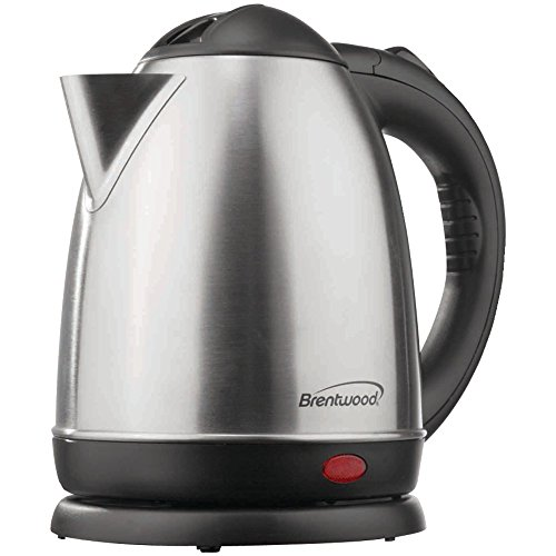 1 - 1.5-Liter Stainless Steel Electric Cordless Tea Kettle (Brushed Stainless Steel), 1,000W, 1.5L Capacity, Auto Shutoff When Boiling Or Dry