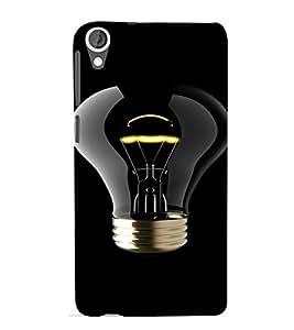 PrintVisa Bulb Light Design 3D Hard Polycarbonate Designer Back Case Cover for HTC Desire 820