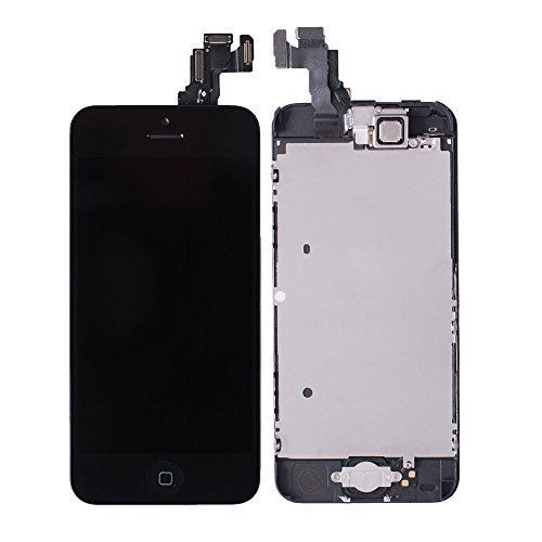 Black Lcd Display Touch Screen Complete Front Assembly With Small Parts For Iphone 5C - Us Cellular Parts