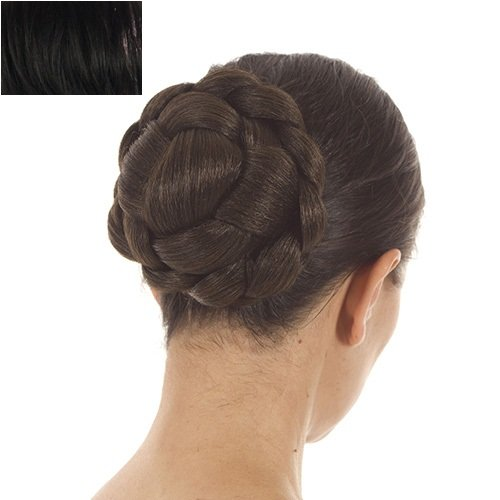 Black Lattice Effect Clip In Bun | Clip On Glamorous Hairpiece | Available in 4 Colours