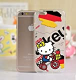 Hello Kitty Silicon Back Case Cover Skin For iPhone 6 (iPhone 6 Plus)