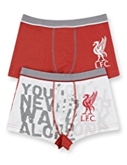 2 Pack Cotton Rich Liverpool Football Club Trunks
