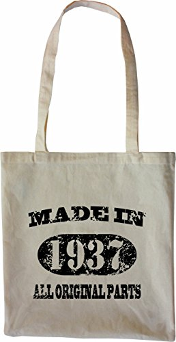 Mister Merchandise Tote Bag Made in 1937 All Original Parts 78 79 Borsa Bagaglio , Colore: Naturale