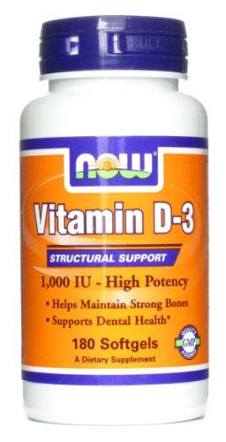 Vitamin D-3 D-3, 1000 Iu, 180 Softgels