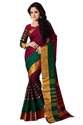 Trendz-Women-Cotton-Silk-SareeTZVVMulti