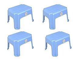 Singet Logic Simba Rectangular Stool - Pack of 4 - 10 inch - Blue