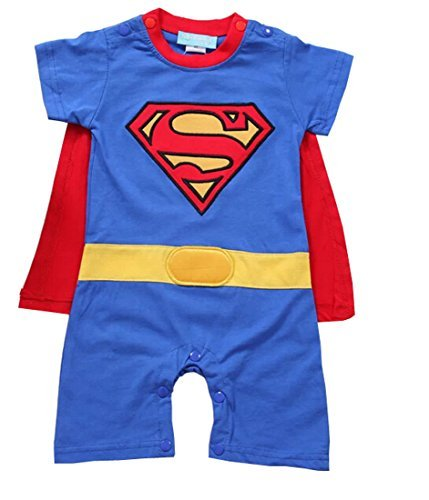 Boys Superman Romper With Removable Cape Superman