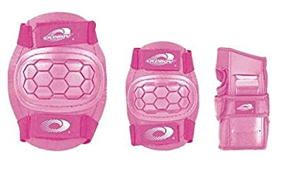 Childs Pink Osprey Skate Cycle Knee, Elbow, Wrist Protection Pads Set