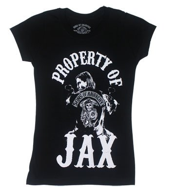 Changes Property Of Jax - Sons Of Anarchy Juniors T-shirt: Junior Large - Black