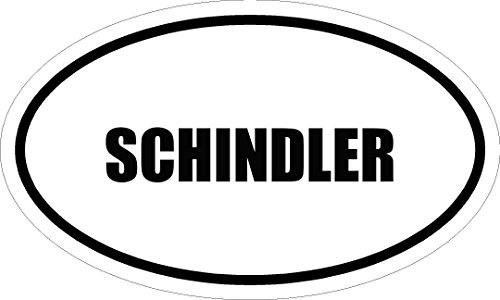 6-printed-schindler-name-oval-euro-style-vinyl-decal-sticker