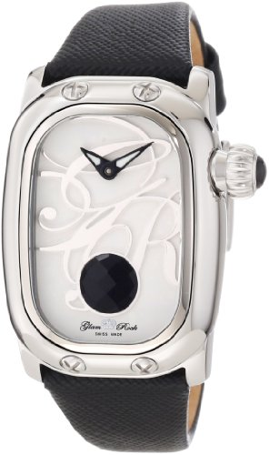 Glam Rock Mujer GR72035 Monogram Black Leather Reloj