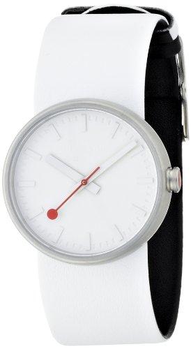 MONDAINE A6583030616SBA - Reloj analógico de cuarzo para mujer, correa de cuero color blanco