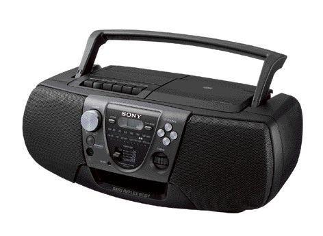 Sony CFD V 6CD lettore radio registratore Nero