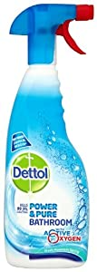 Dettol Power and Pure Bathroom Spray 750 ml (Pack of Three)