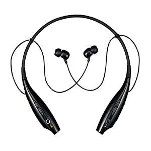 LG Tone Wireless Bluetooth Stereo Headset - Retail Packaging - Black/Orange