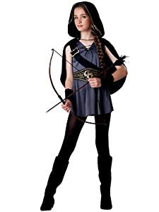 InCharacter Costumes Tween Kids Hooded Huntress, Grey/Black, L (12-14)