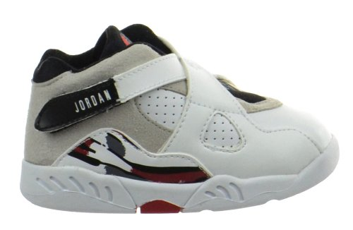 Jordan 8 Retro (TD) Baby Toddlers Shoes White/Black-True Red 305360-193-7