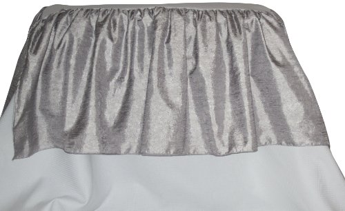 Baby Doll Crocodile Crib Dust Ruffle, Silver/Grey