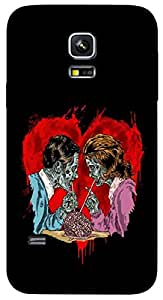 Timpax Protective Hard Back Case Cover With Easy access to all ports Printed Design : Breakfast.For Samsung Galaxy S5 mini ( SM 800G )