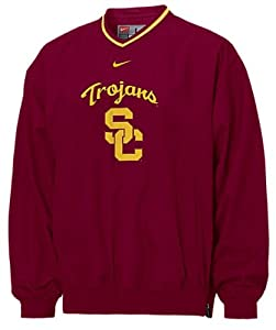 Southern Cal Trojans Adult V-Neck Cardinal Logo College Windshirt By Nike Team Sports by Nike