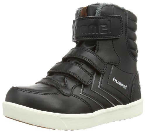 Hummel HUMMEL STADIL SUPER JR LEA HG High Unisex-Child Black Schwarz (BLACK 2001) Size: 27