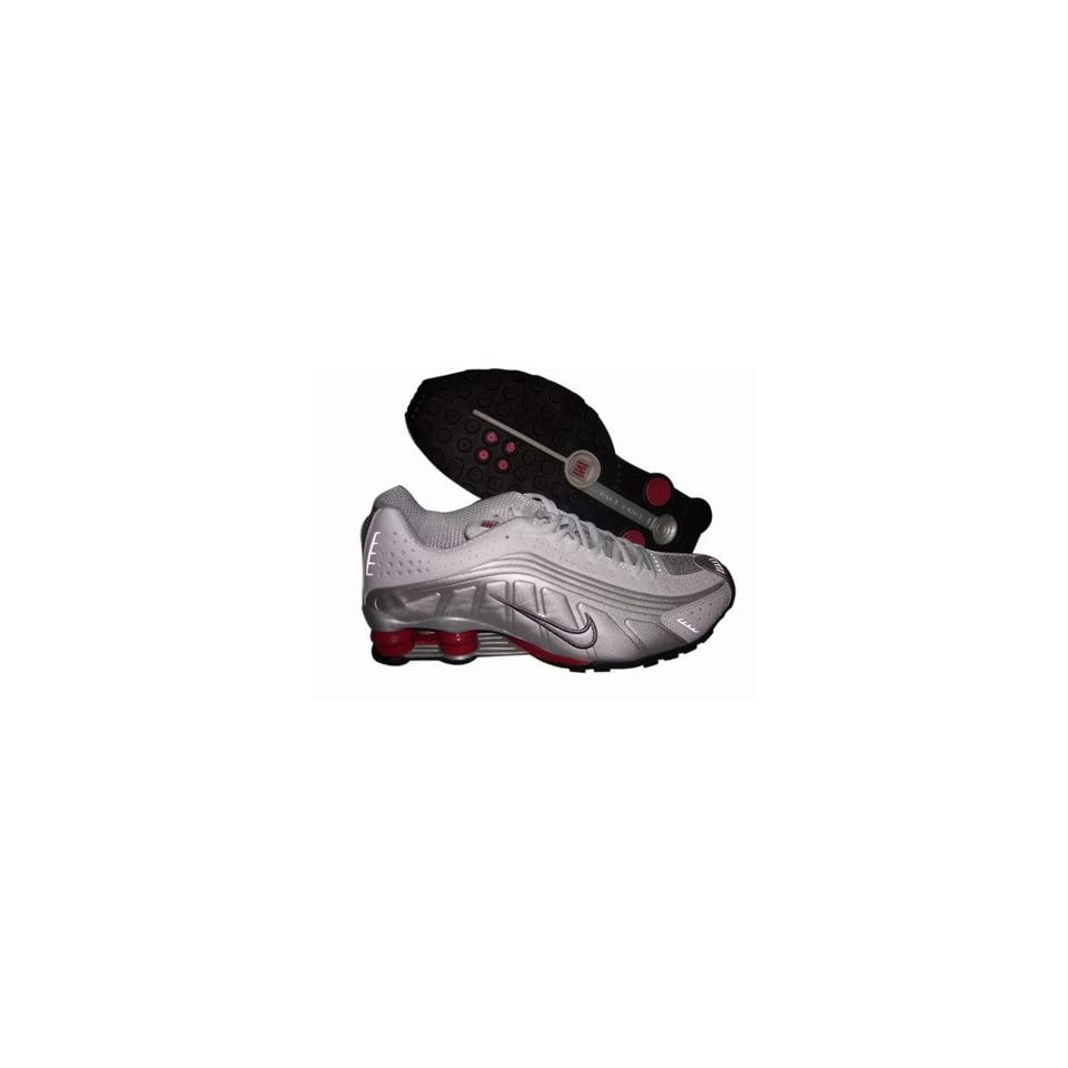 4ac5e760d2cbb0 Nike Shox R4 White Grey Red Running Shoe Men