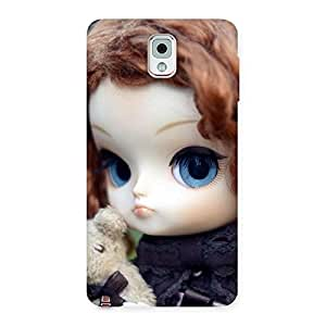 Impressive Teddy with Doll Back Case Cover for Galaxy Note 3